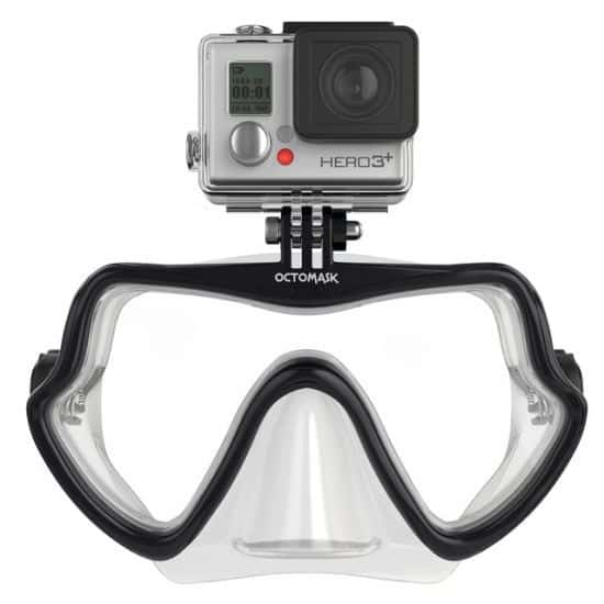 Octomask Frameless GoPro Mount Diving Mask