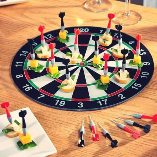 Bullseye Appetizer Serving Tray & Picks