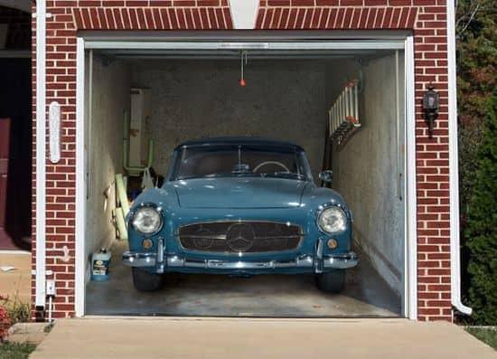 Mercedes Garage Door Mural