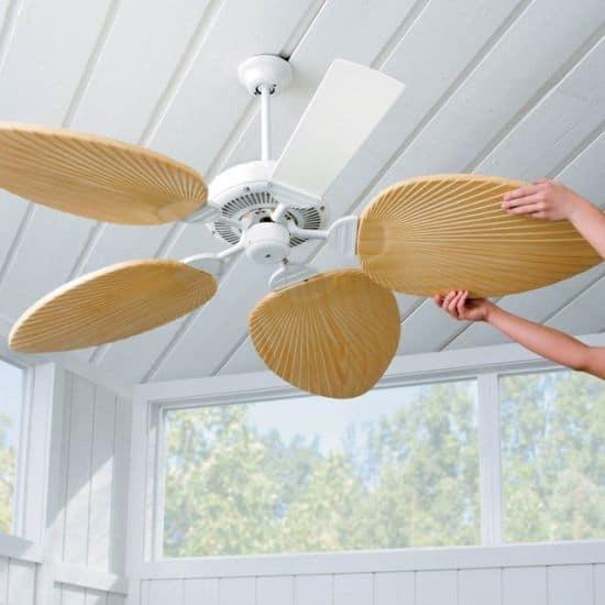 Palm-Leaf Ceiling Fan Blades