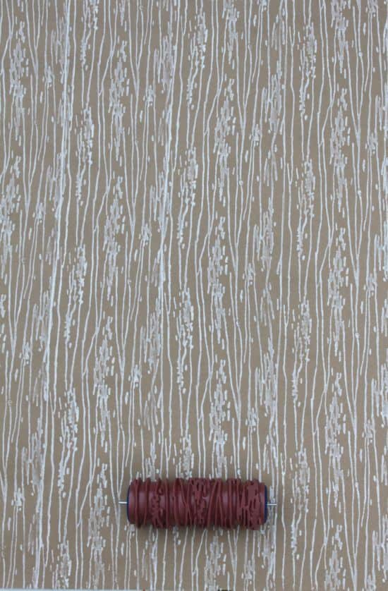 Wood Grain Patterned Paint Roller