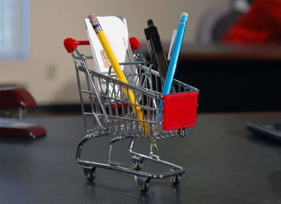 Mini Shopping Cart Organizer