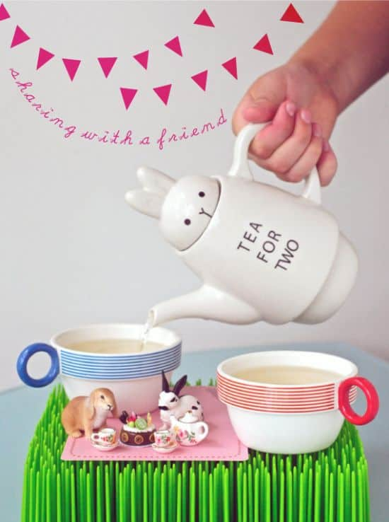 Rabbit Tea Pot For Two