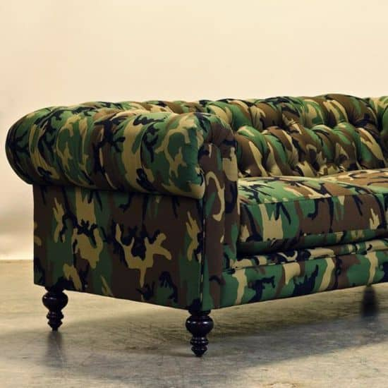 Camouflage Chesterfield Couch by CoCoCo Home