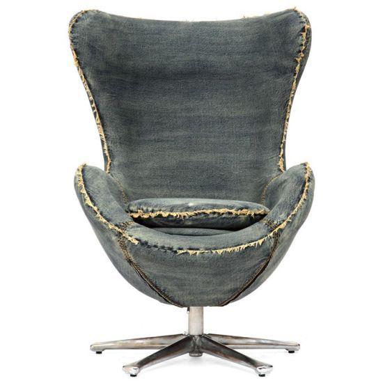 Denim Egg Chair by Arne Jacobsen