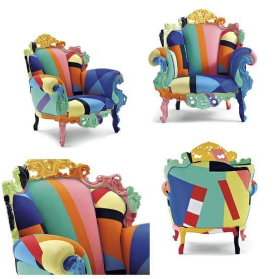 Proust Geometrica Armchair by Alessandro Mendini