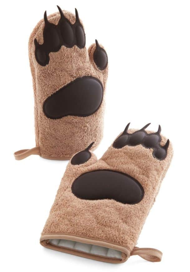 'Cub on By' Bear Paw Oven Mitts