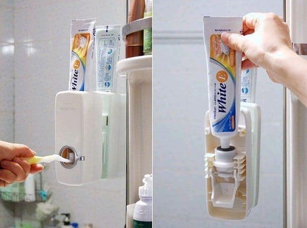 automatic toothpaste squeezing device