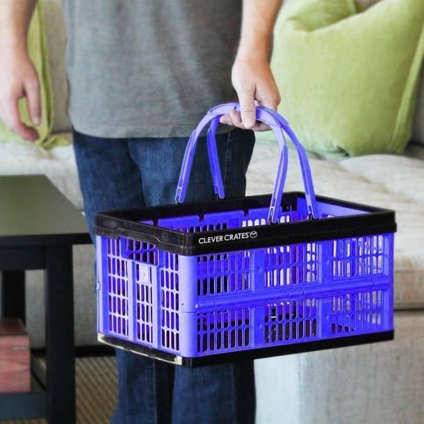 Clever Crates Folding Shopping Basket 16 Liter