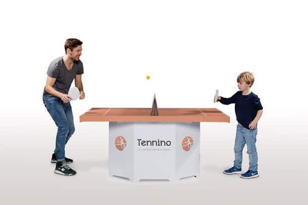 Раскладной картонный комплект для игры в настольный теннис Tennino