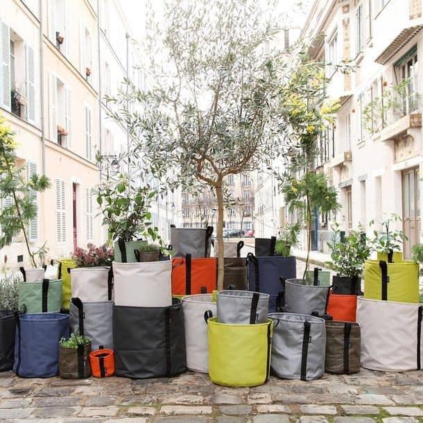 Planter 10L Stone by Godefroy de Virieu