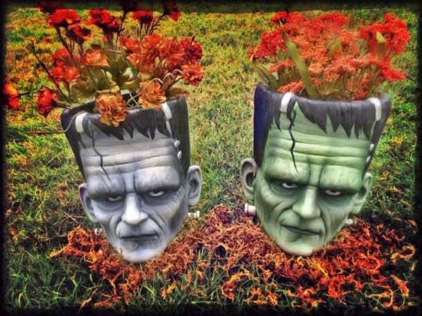 Вазоны в виде головы Франкенштейна