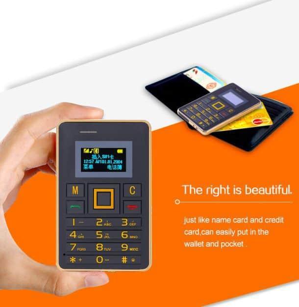 Ультратонкий мобильный телефон AEKU K5