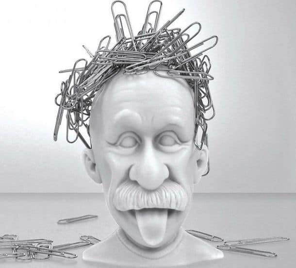 Amazoncom Mustard Magnetic Paper Clip Holder Albert Einstein Desk Accessory Office Products