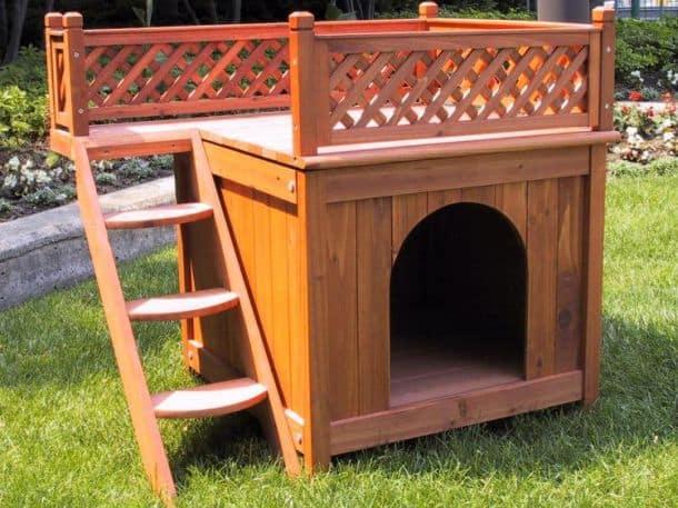 Двухъярусная кровать-дом для собак