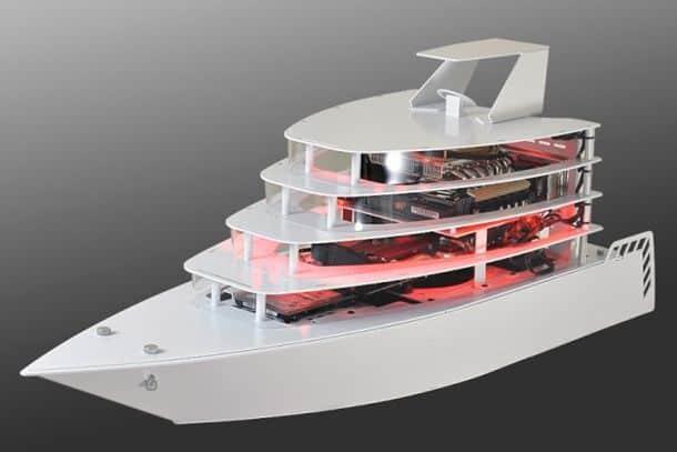 Корпус для компьютера в виде яхты PC-Y6 от компании Lian-Li