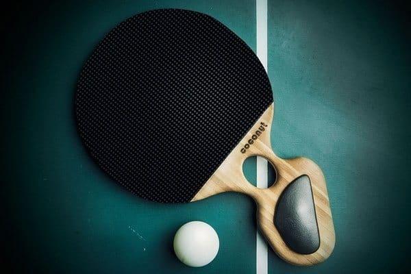 Ракетка для настольного тенниса в форме кокоса