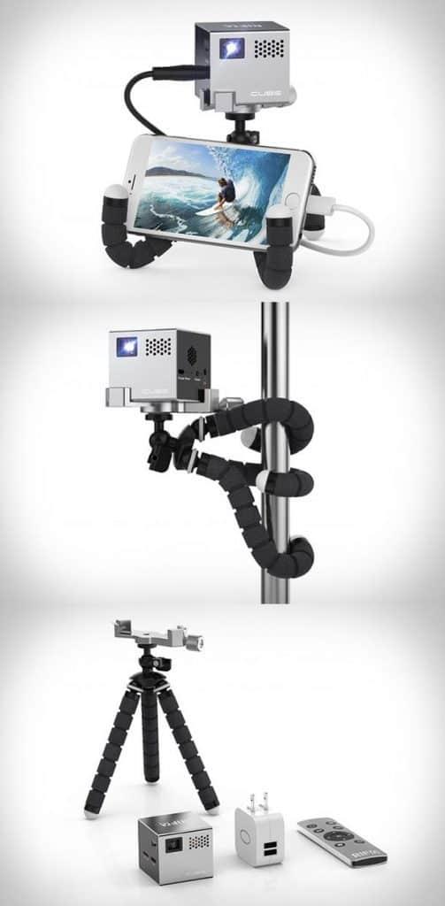 Портативный видеопроектор RIF6 Cube