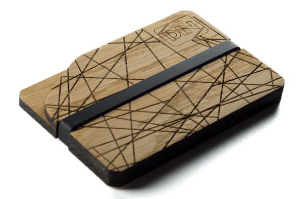 Бумажник с абстрактным узором от Din Wallets на Goodsi.ru