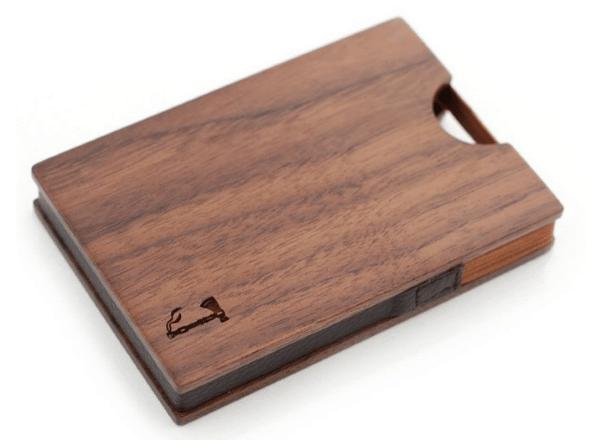 Монолитный бумажник из ореха Slim Timber's Walnut Card Wallet на Goodsi.ru
