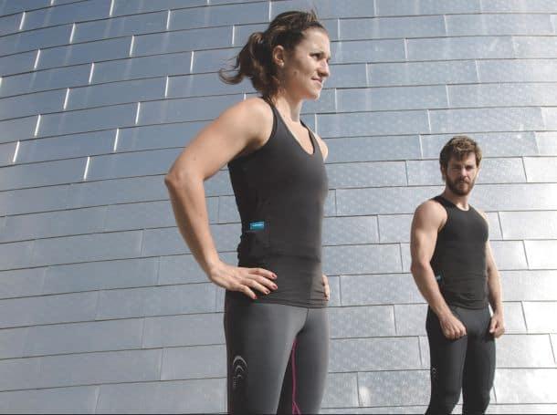 Умные биометрические майки для фитнеса Hexoskin