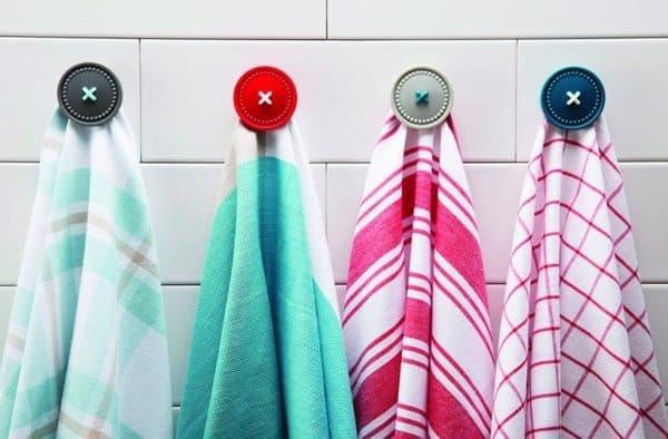 Магнитная кнопка-держатель полотенец в виде пуговицы