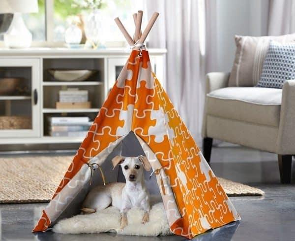 Собачий лежак в форме палатки