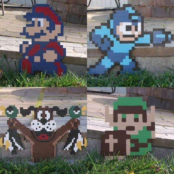 Декоративные фигуры героев классических игр Nintendo