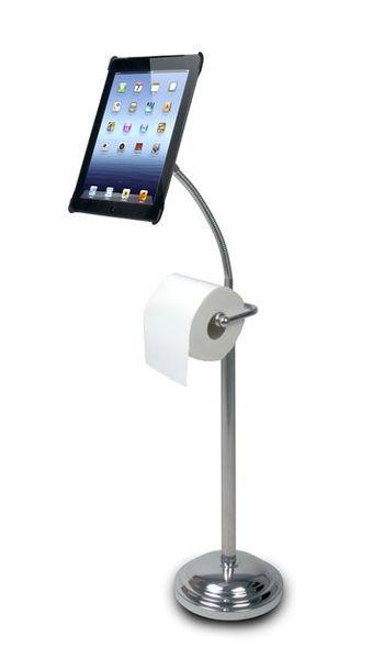 Подставка для iPad со встроенным держателем туалетной бумаги