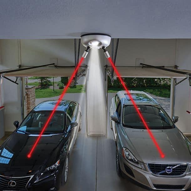 Лазерный помощник для парковки в гараже