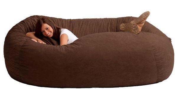 Большой мешок-диван в виде фасолины