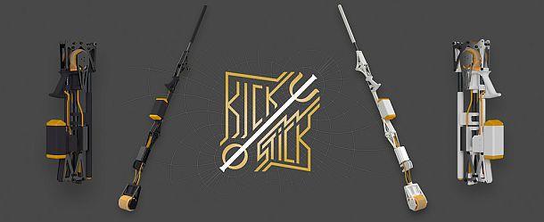 Моторизованная палка для скейтбордистов Kickstick