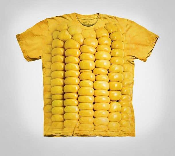 Футболка с принтом початка кукурузы