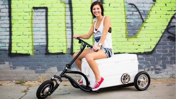 Моторизированный холодильник-скутер Kreweser