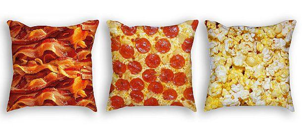 Аппетитные подушки с фотопечатью