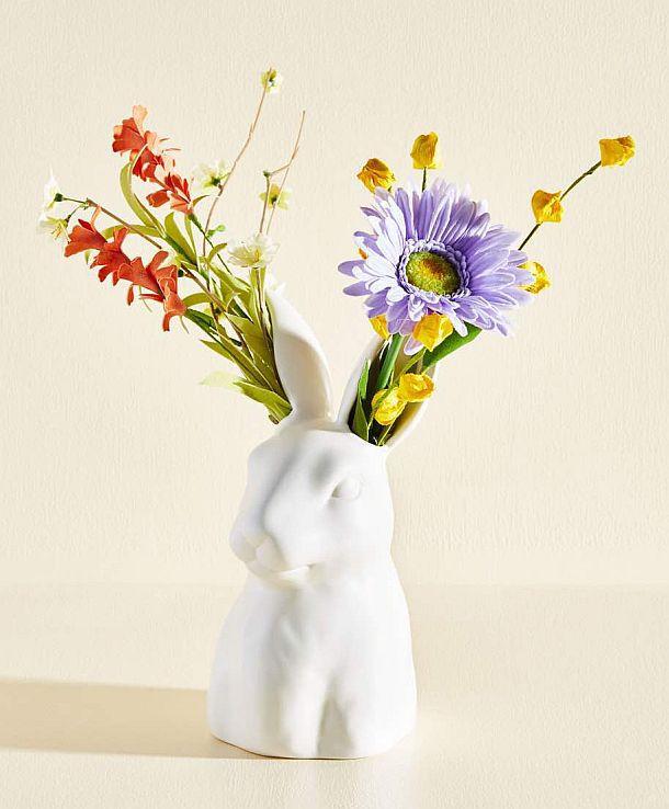 Цветочная ваза в виде зайчика