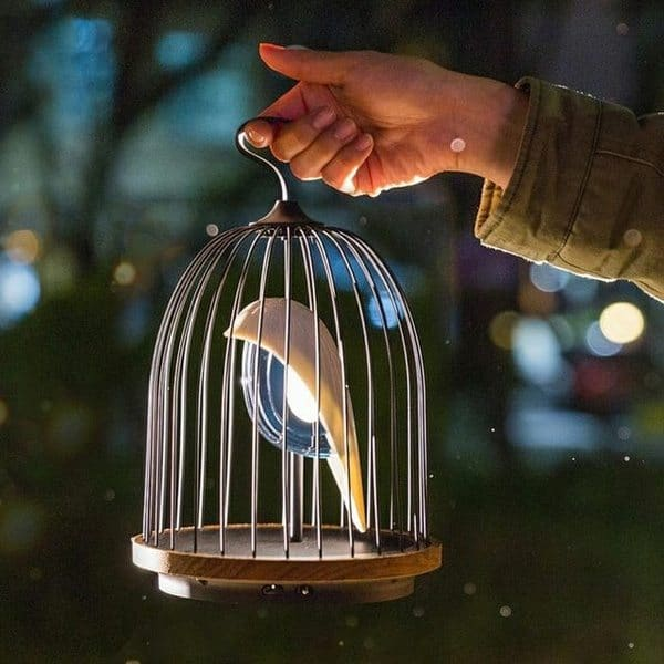 Ночник и беспроводная колонка JinGoo в виде птицы в клетке