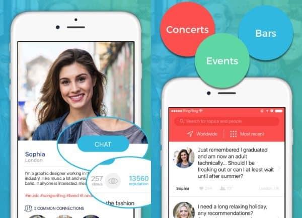 Мобильный чат Hitch для локального общения по интересам