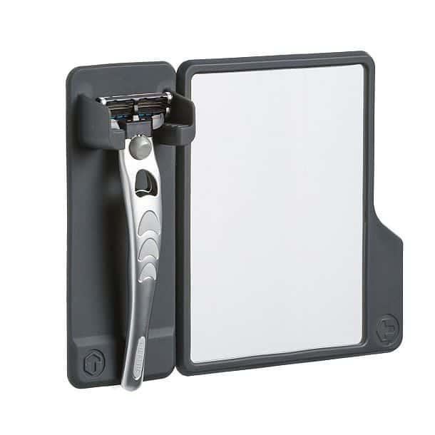 Комплект Mighty - настенный держатель бритвенного станка и зеркальце