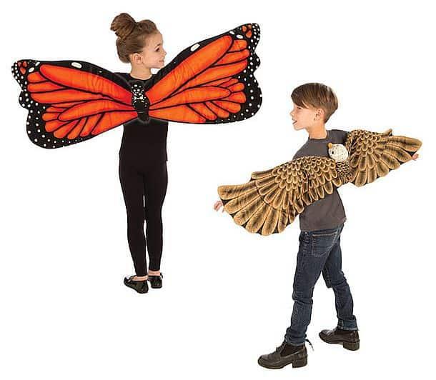 Плюшевые крылья для детей