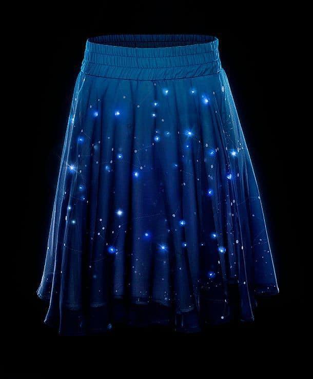 Юбки синие звёздное небо
