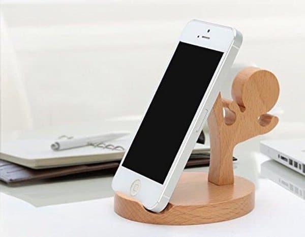 Деревянная подставка для смартфона «Ниндзя»