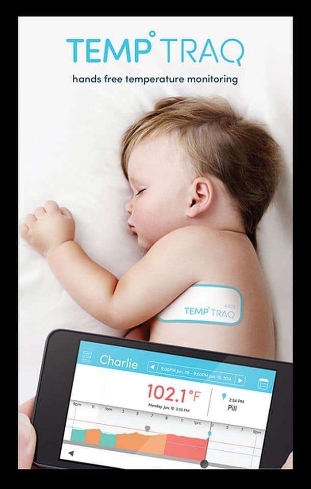 Детский термометр-пластырь TempTraq
