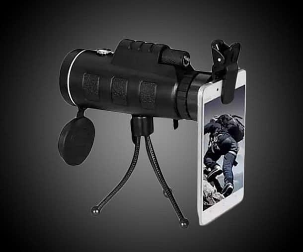 Монокуляр Zoomable 60X Monocular с креплением для смартфона