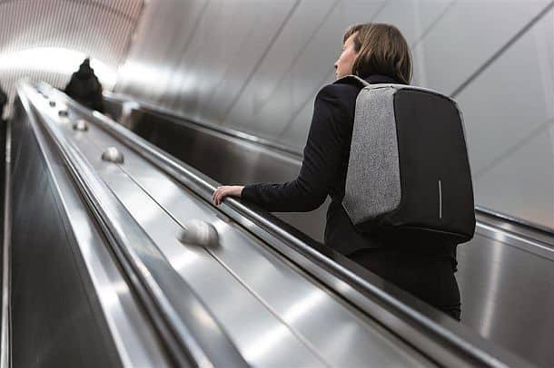 Стильный антивандальный рюкзак Grey Bobby