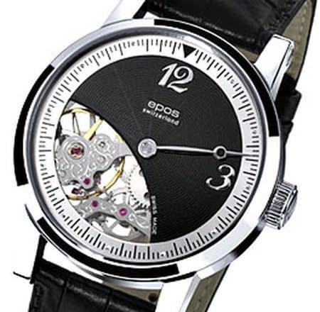 Часы с открытым механизмом Epos Collection Sophistiquee