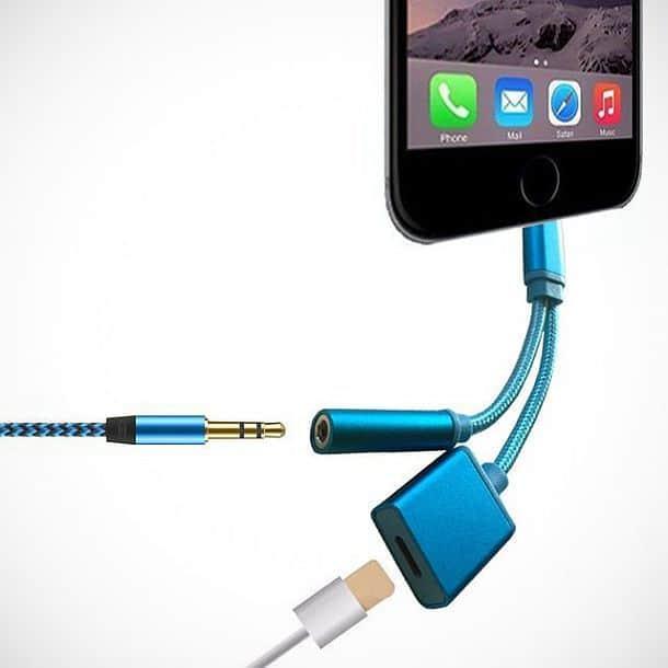 Адаптер с аудиоразъемом для айфонов 7 и 7 Plus MSpark