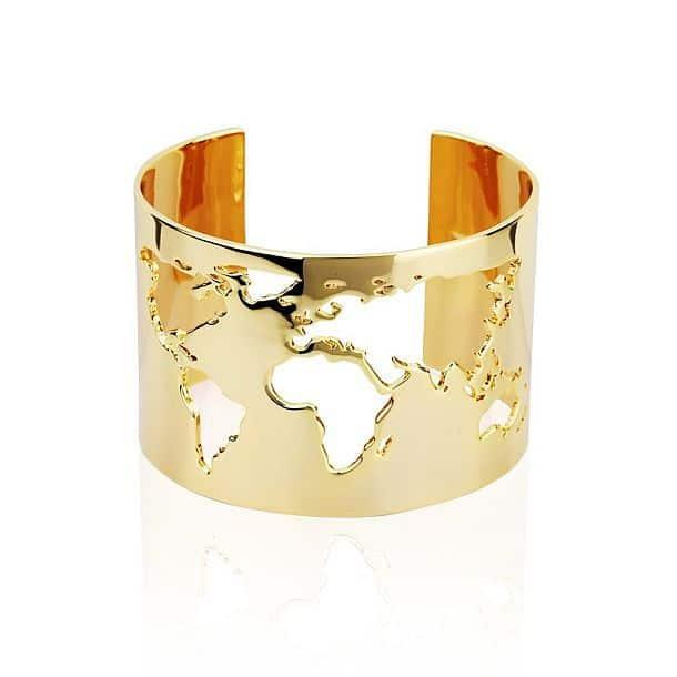 Браслет с картой мира World Cuff
