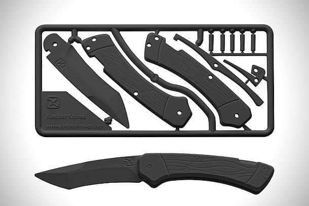 Детский конструктор в виде пластикового перочинного ножика Trigger Knife Kit