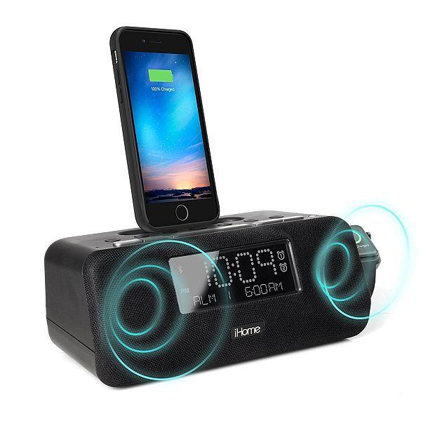 Многофункциональная док-станция для айфонов с будильником и радиоприемником iHome iPLWBT5